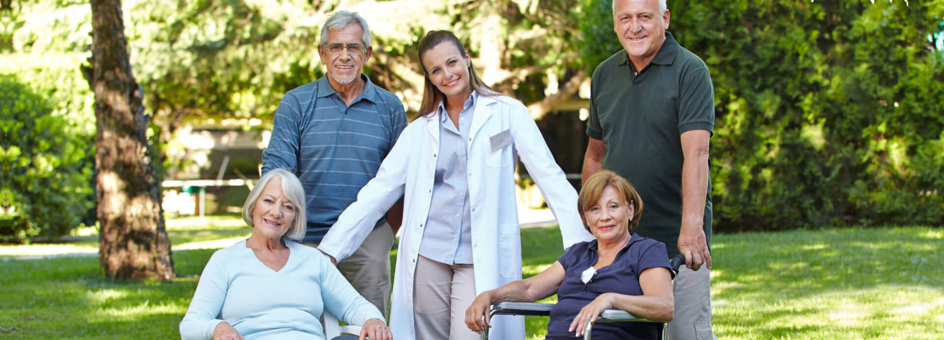 staff and elderly people